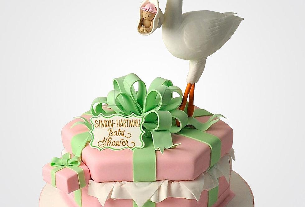 Christening Stork Cake CHB6520