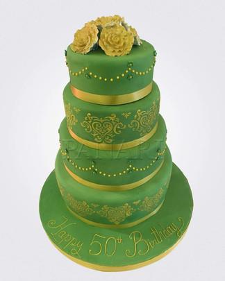50th Birthday Cake CL2281