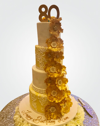 80th Birthday Cake CL1852