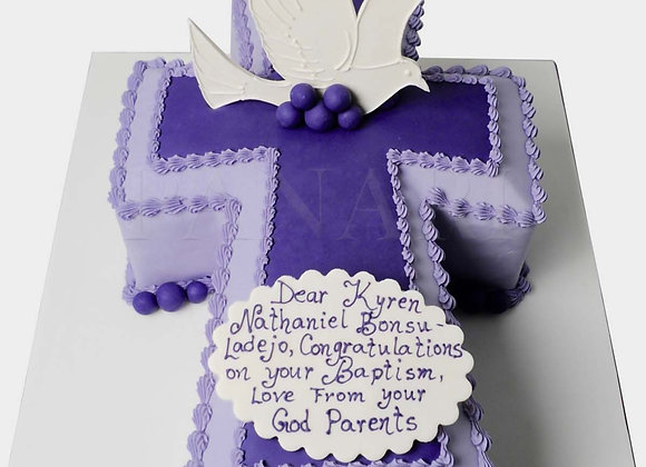 Christening Cross Cake CHB2930