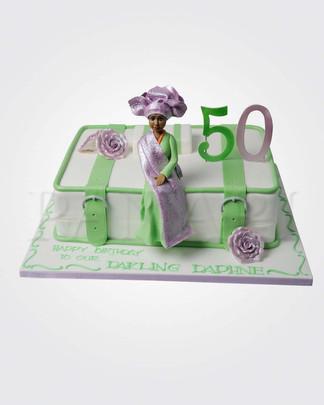 Nigerian Lady Cake AFC0280