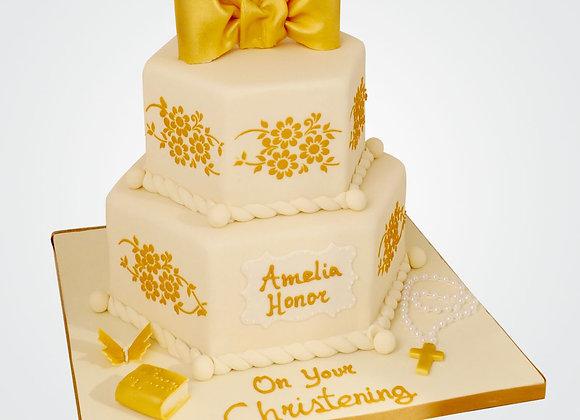 Gold Bow Cake   CG6777