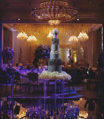 Grey Ombre Wedding Cake by Panari Cakes.