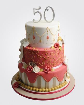 50th Birthday Cake CL6598
