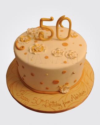 50th Birthday Cake CL6623