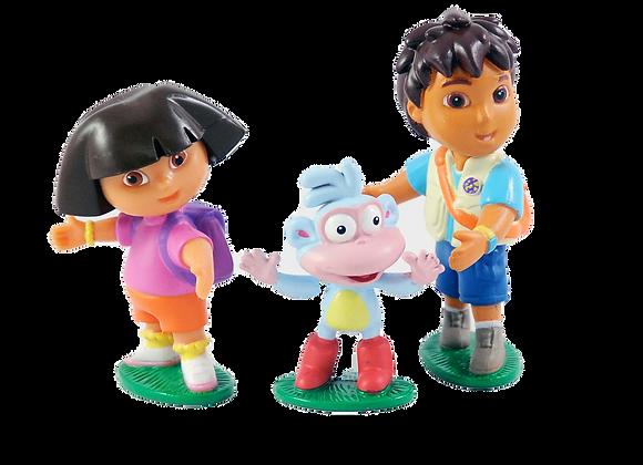 Dora & Diego Cake Toppers