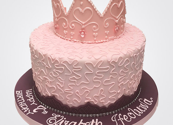 Pink Crown Cake  CG2718