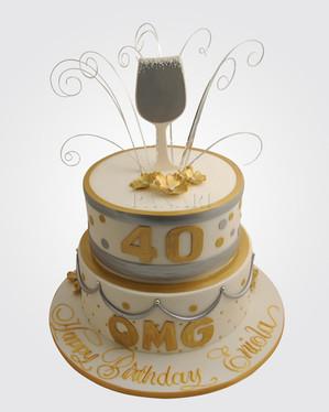 40th Birthday Cake CL0526