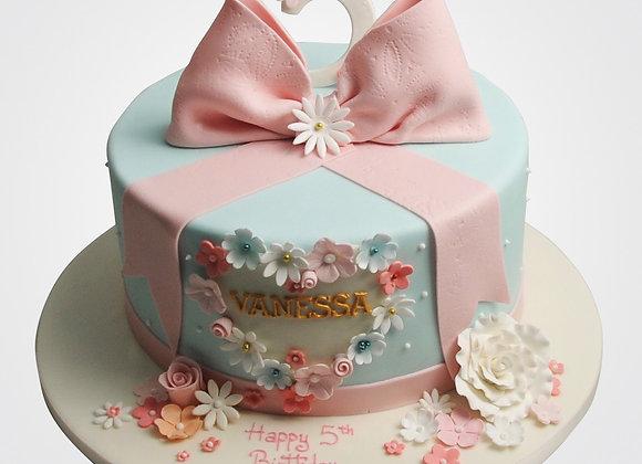 Pink Bow Blossom Cake    CG8173