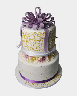 Purple Bow Cake CL3294