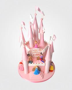 Pink Castle Cake C0898