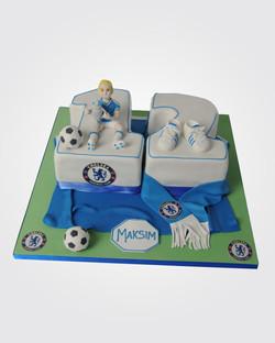 Chelsea Football Cake  SPH0704