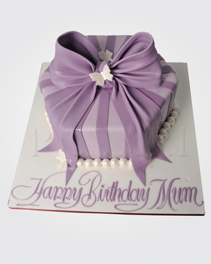 Purple Bow Cake CL1920