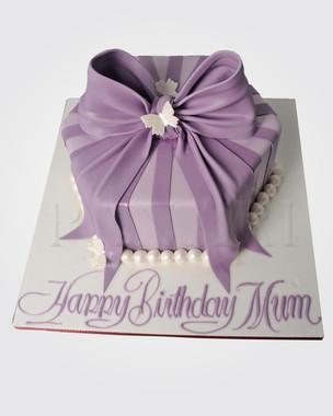 Purple Bow Cake CL1920