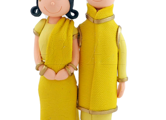 Cute Asian Couple Cake Topper