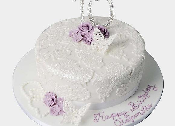 Lilac Lace Cake CG9481