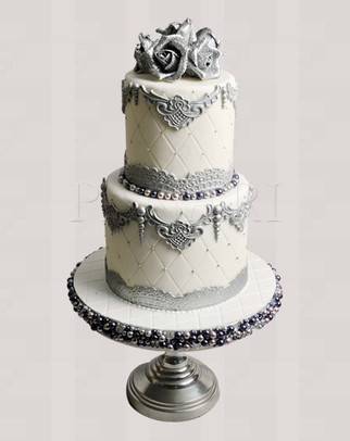 Silver Rose Cake CL2217