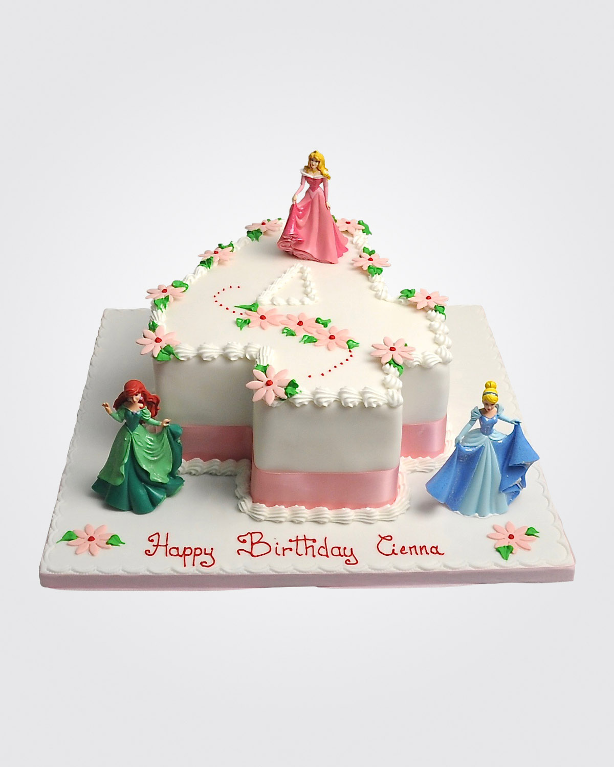 Princess Number Cake 3923