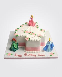 Princess Number Cake 3923