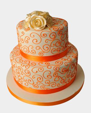 Orange Wedding Cake WC3311 .jpg