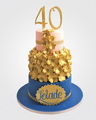 40th Birthday Cake CL9881