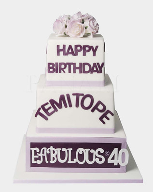 Purple Tiered  Cake CL4034