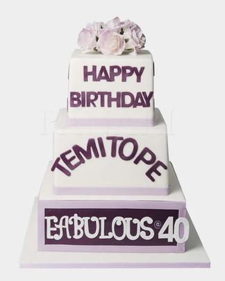 Purple Tiered  Cake CL4034