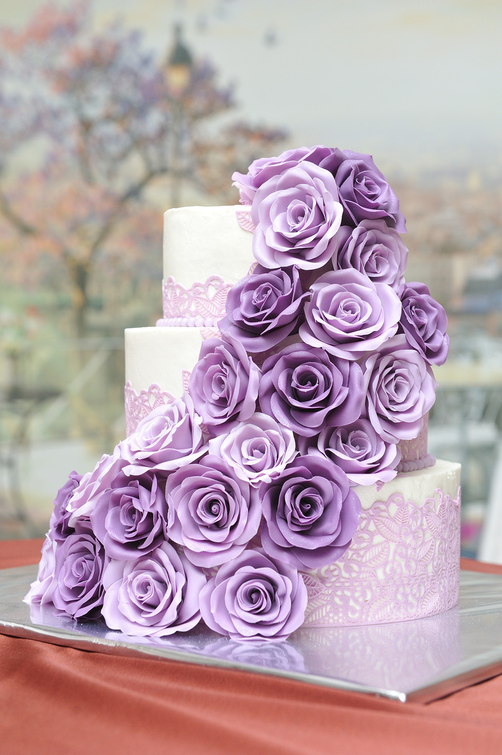 Purple &  Lilac Wedding Cake WC20224