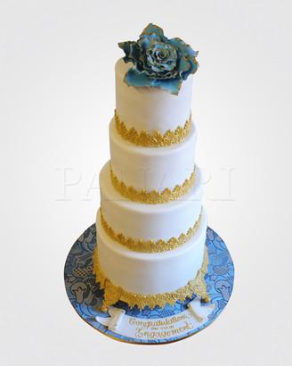 Blue Gilt Engagement Cake WC8946 copy.jp