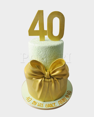 40th Bow Cake CL6524