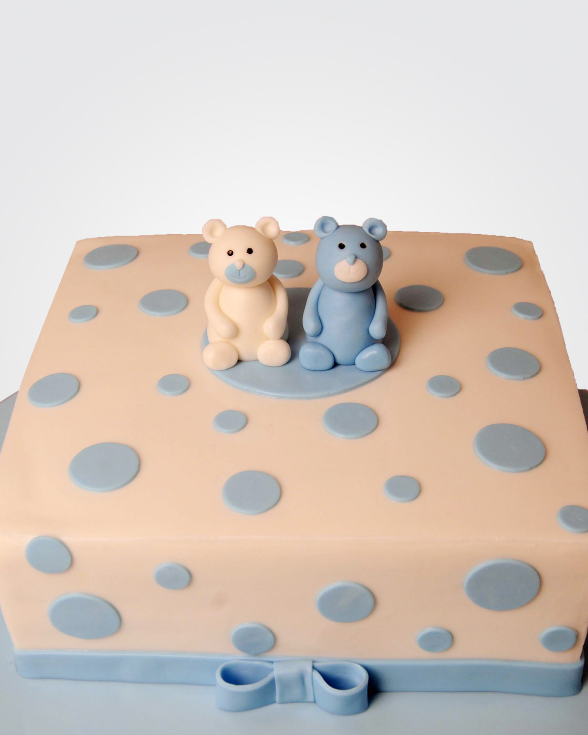 TWIN TEDDY BEAR CAKE TE8066 copy