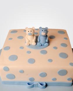 TWIN TEDDY BEAR CAKE TE8066 copy