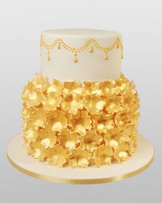 Gilt Dewdrops Wedding Cake WC0677.jpg