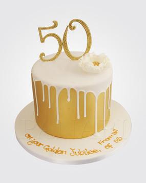 50th Birthay Cake CM6394