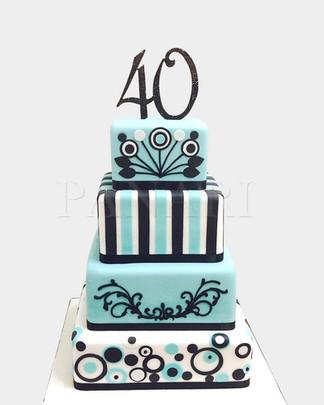 40th Birthday Cake CL5019
