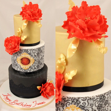 Red Peony Cake CL9899