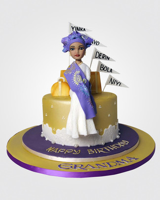 Nigerian Lady Cake CL3284
