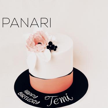 Peach Floral Cake CL9874