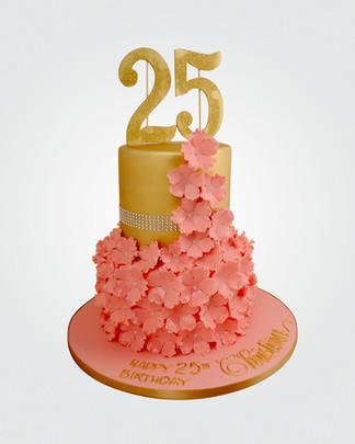 Floral Cascade Cake CL3111