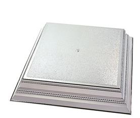 Square Silver Cake Stand