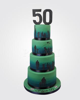 50TH Silhouette Cake CM11190