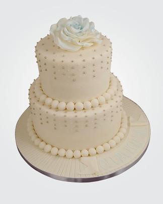 Pearls & Rose Cake CL5948