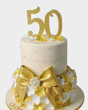 50th Birthday Cake CL5636