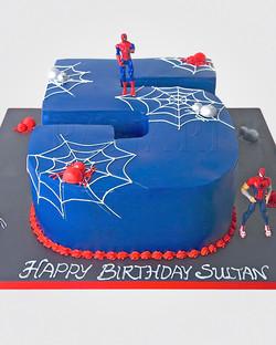 Spiderman Number Cake SP1697
