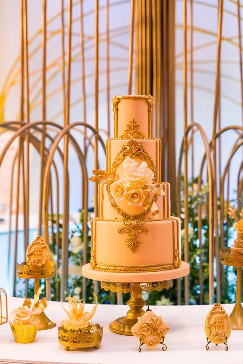Embellished Gold Wedding Cake WC20217