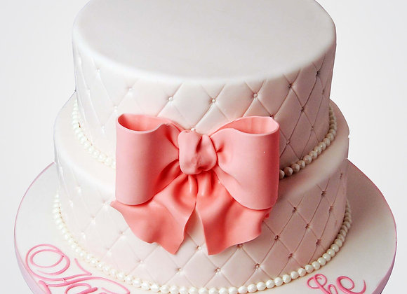 Pink Bow Cake CL3466