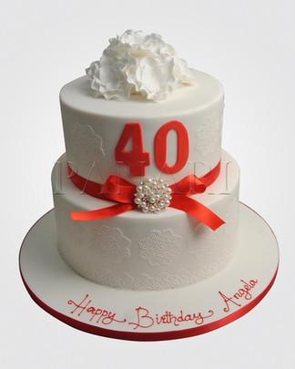 40th Birthday Cake CL2471