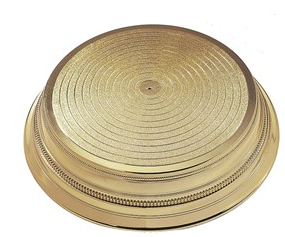Round Gold Plastic Cake Stand.png