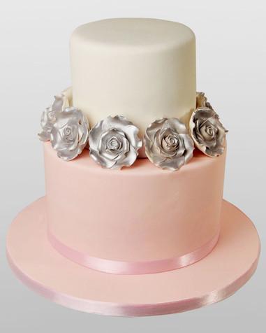 Silver Rose Wedding Cake WC0633.jpg