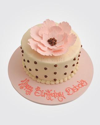 Pink Flower Cake CL0351